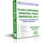 Plan Contable General Para Empresas en Excel 2017