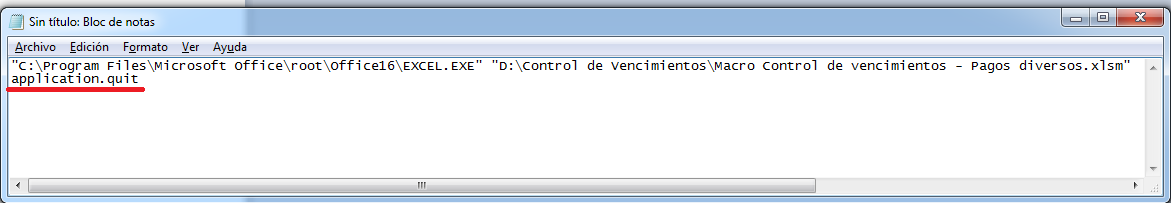 Control de vencimientosaplication quits